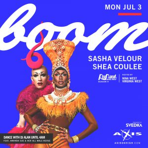 Boom with Sasha Velour and Shea Coulee @ Axis Nightclub
