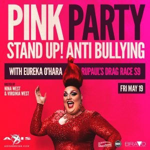 Pink Party 2017 with Eureka O'Hara from RuPaul's Drag Race 9 @ Axis Nightclub