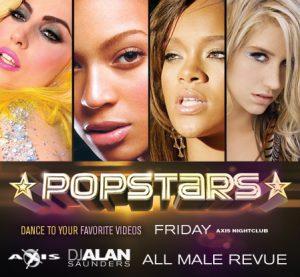 Pop Stars with DJ Alan Saunders @ Axis